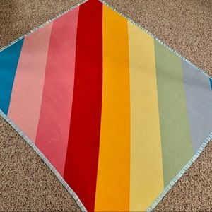 Rainbow Fleece Throw Blanket